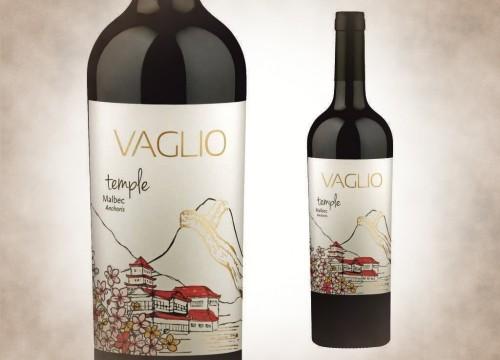 Vaglio Temple está elaborado con uvas Malbec provenientes de un viñedo antiguo ubicado en Anchoris, en Valle de Uco.