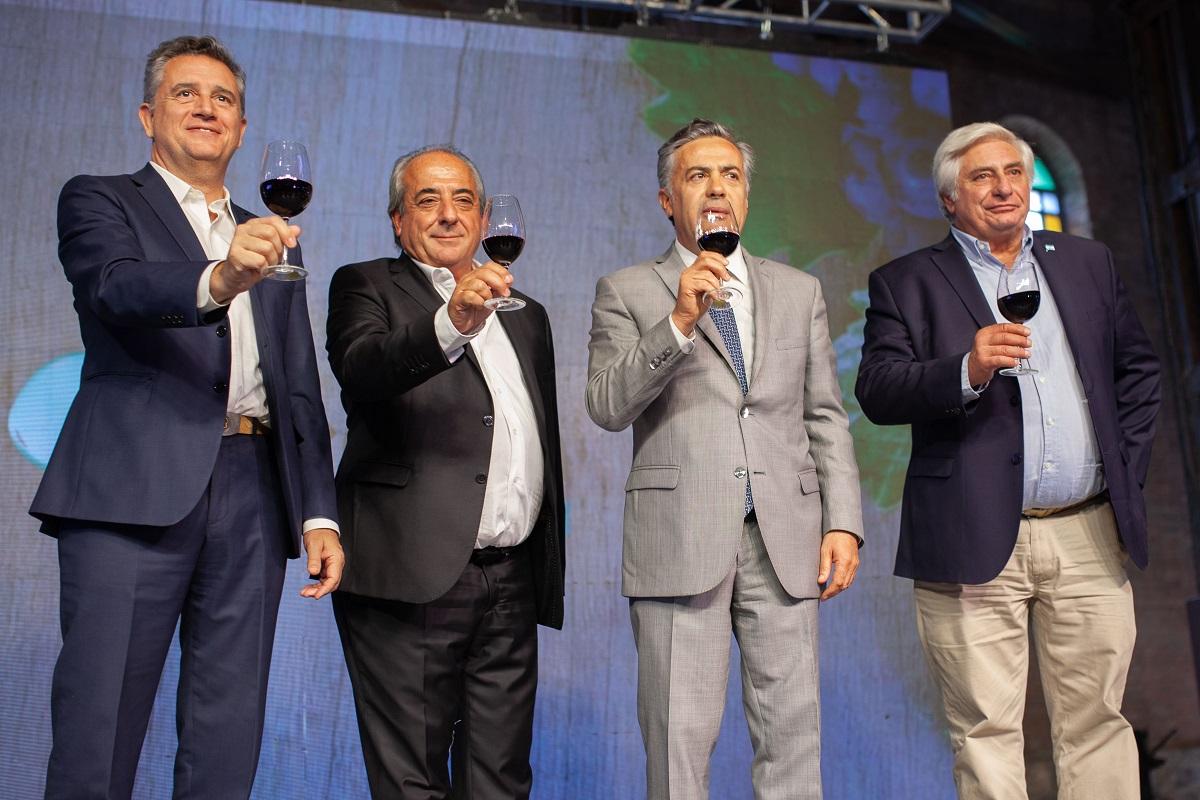Luis Miguel Etchevehere, Walter Bressia, Alfredo Cornejo y Carlos Tizio