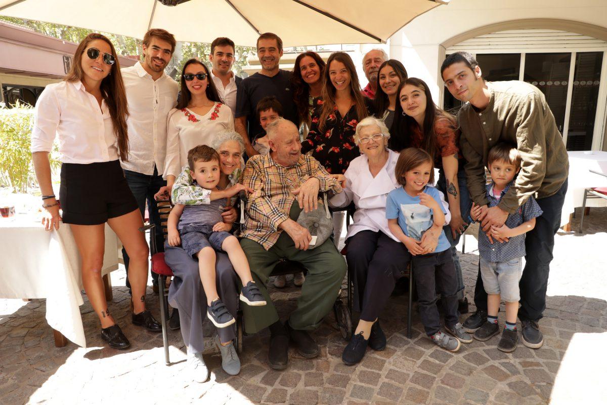La familia Barbera acompañó a María Teresa