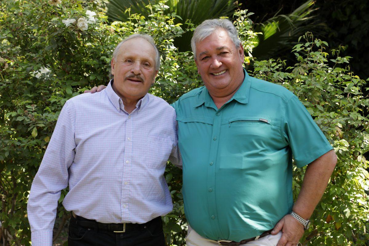 Leopoldo Luque junto a Mariano Di Paola